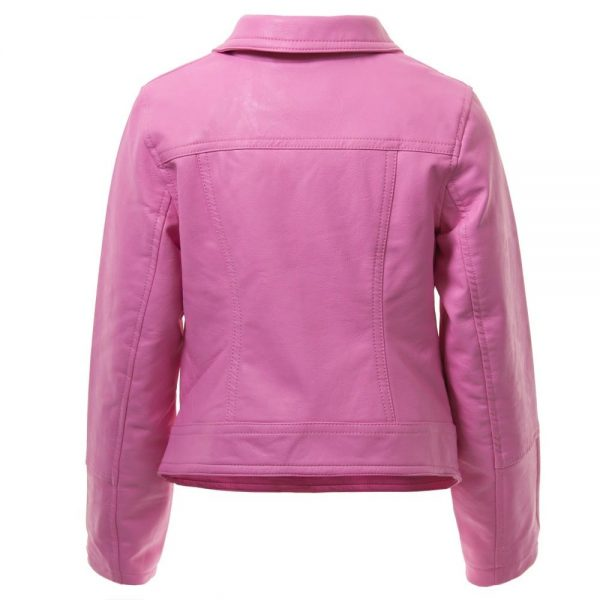 DKNY Girls Pink Biker Jacket 3