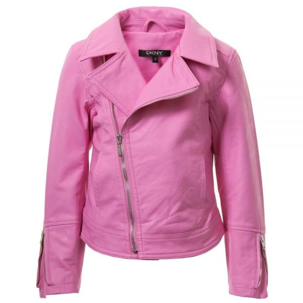 DKNY Girls Pink Biker Jacket