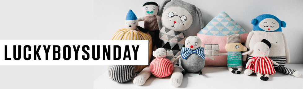 Lucky Boy Sunday knitted toys & accessories for kids