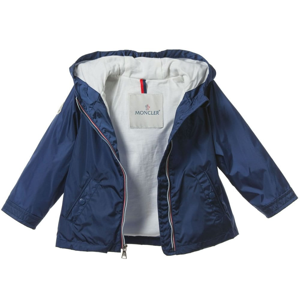 fantastic savings search for official new images of MONCLER Baby Boys Blue Lightweight Showerproof Jacket