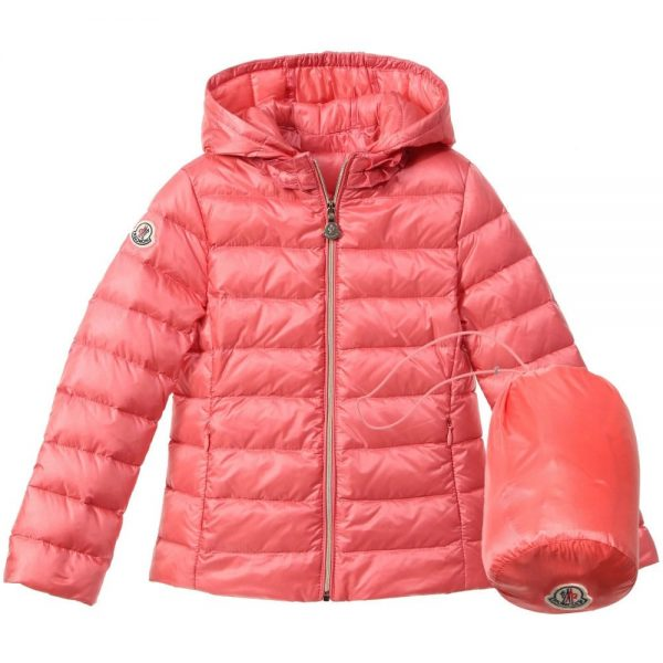 ca6dfc6e4 MONCLER Girls Coral Pink Down Padded 'Iraida' Jacket