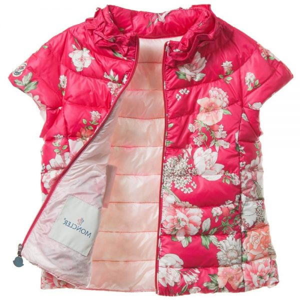 c89d73542033 MONCLER Girls Pink  Clelie  Down Padded Gilet - Children Boutique