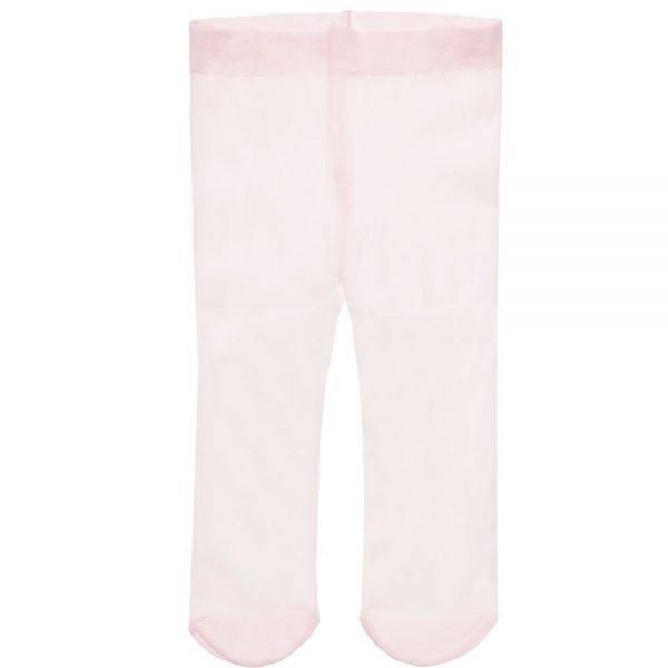 MONNALISA BEBE Baby Girls Pale Pink Fine Tights with Diamante1