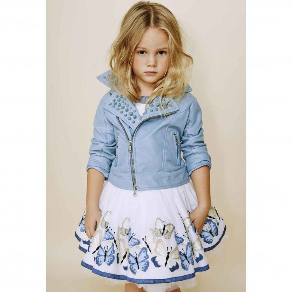 Monnalisa Girls Skirt With Butterflies Children Boutique