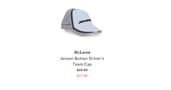 McLaren kids clothing
