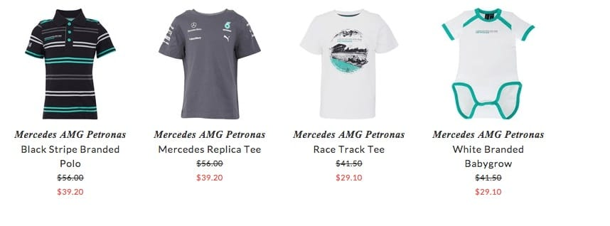 Mercedes AMG Petronas children & baby clothing