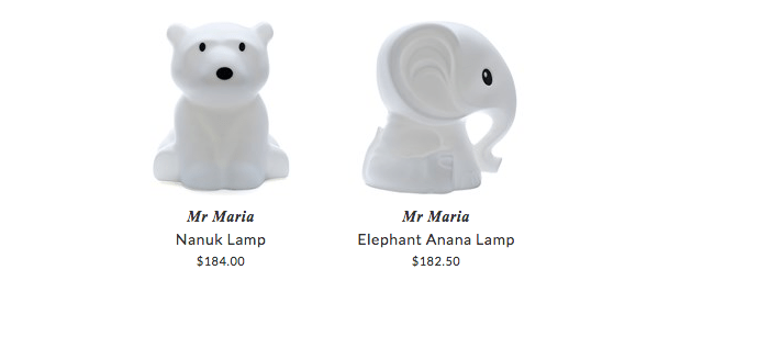 Mr Maria original lamps for kids room