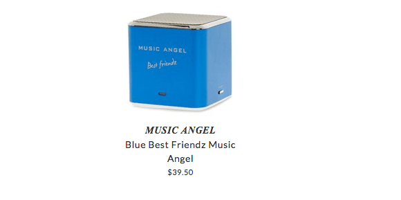 Music Angel portable speakers for kids