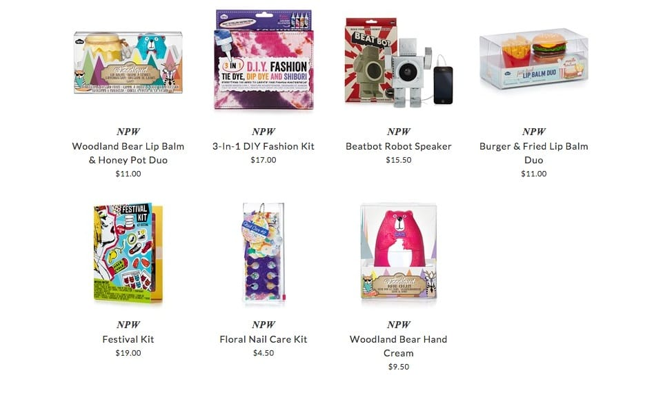 NPW kids body care & accessories