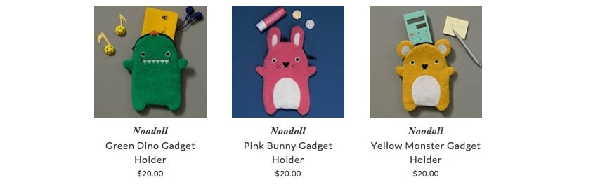 Noodoll kids gadgets holders