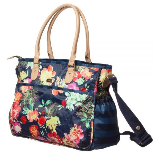 OILILY Blue Floral Baby Changing Bag & Mat (42cm) 1