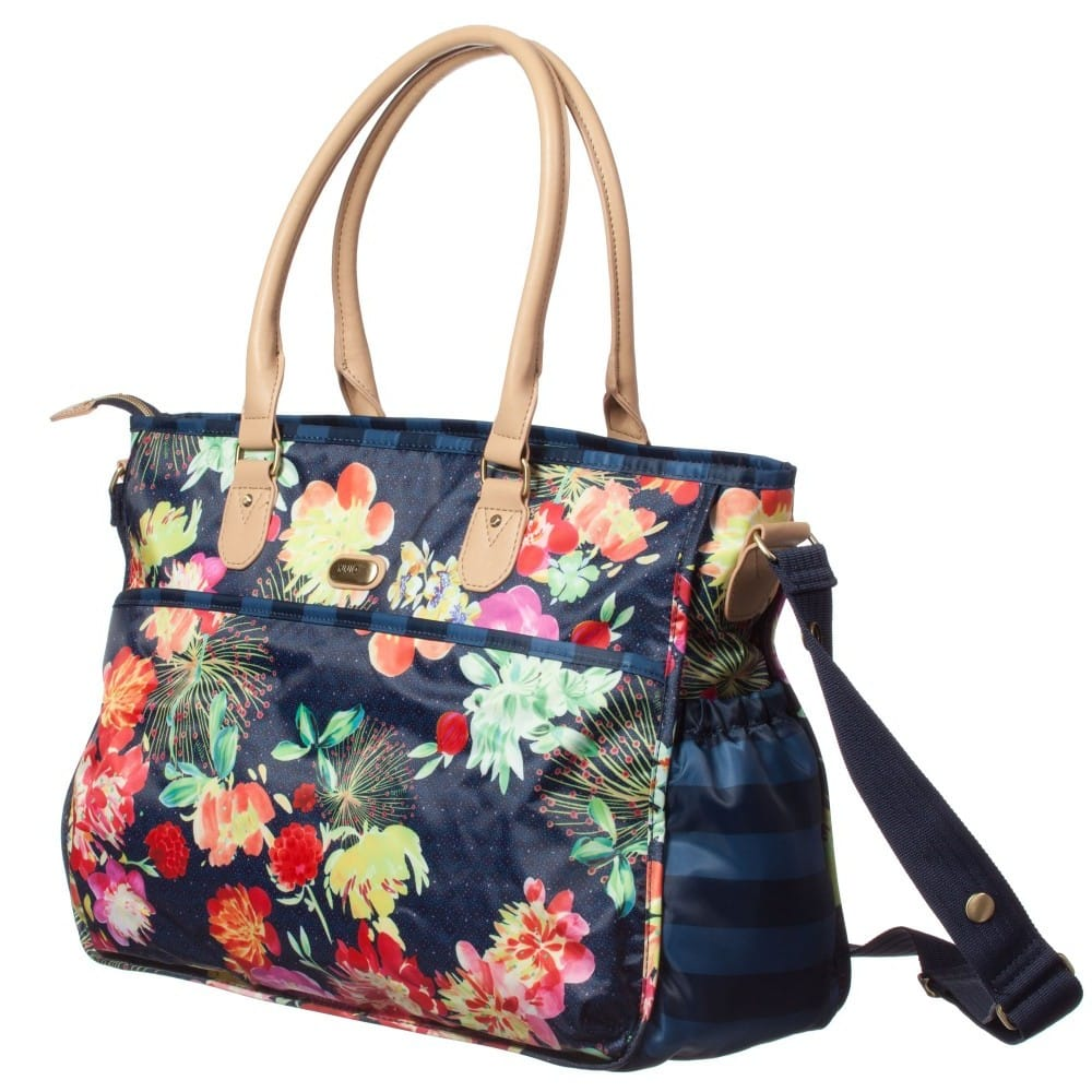 OILILY Blue Floral Baby Changing Bag U0026 Mat (42cm) - Children Boutique