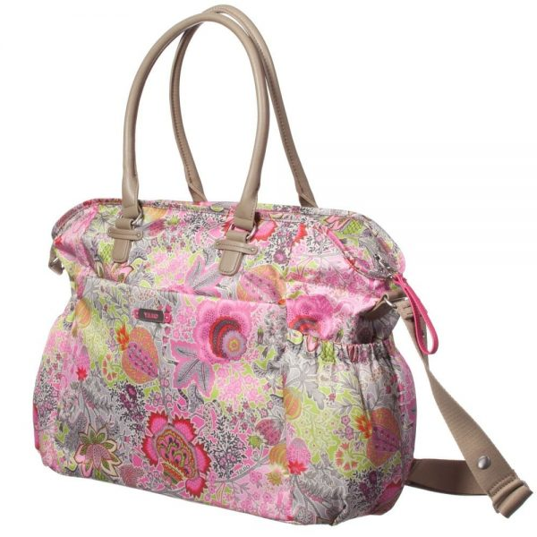 OILILY Pink Floral Print Baby Changing Bag (42cm) 1