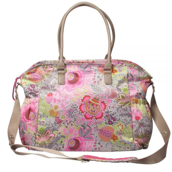 OILILY Pink Floral Print Baby Changing Bag (42cm) 4