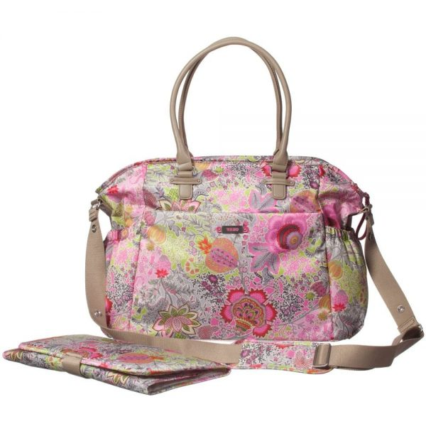 OILILY Pink Floral Print Baby Changing Bag (42cm)