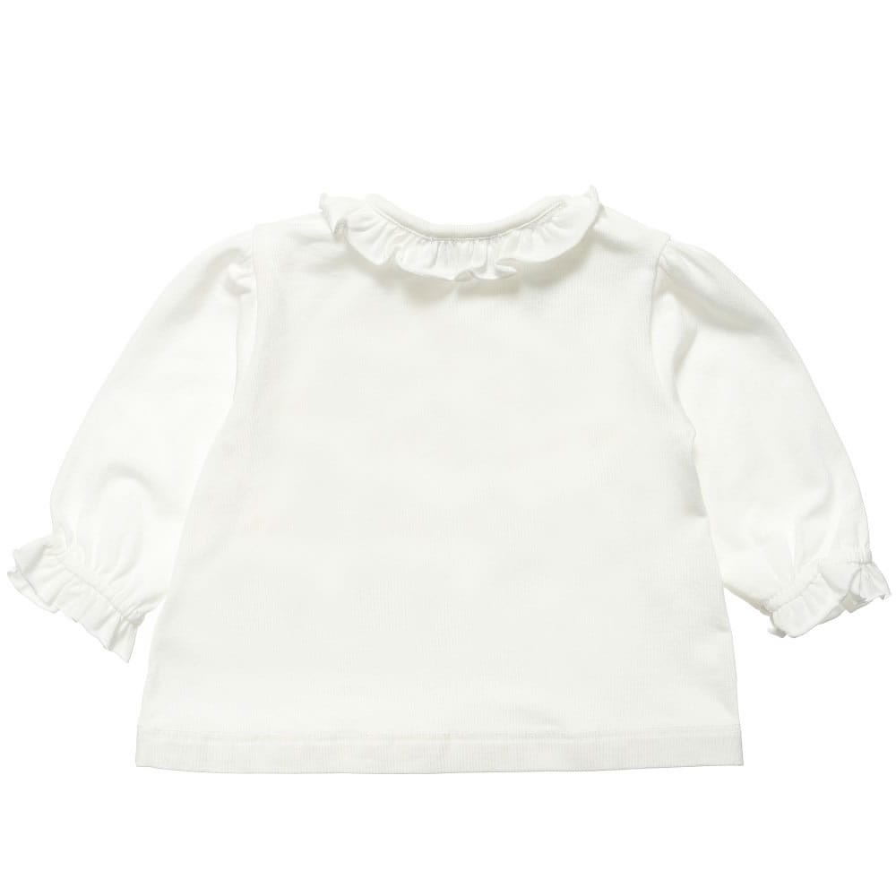 4fd0afabf262 PAESAGGINO Baby Girls Ivory Cotton and Modal T-Shirt - Children Boutique