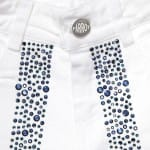 PARROT Girls White Cotton Shorts with Blue Jewels3