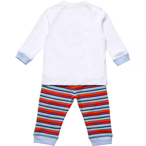 PAUL SMITH JUNIOR Baby Boys White & Striped 'Heloi' Outfit1