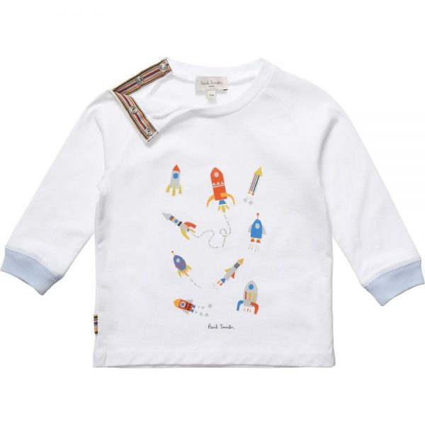PAUL SMITH JUNIOR Baby Boys White & Striped 'Heloi' Outfit2