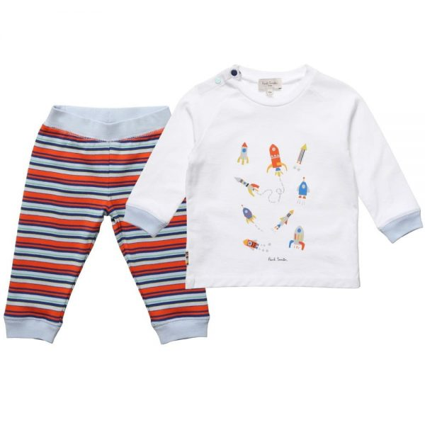 PAUL SMITH JUNIOR Baby Boys White & Striped 'Heloi' Outfit5
