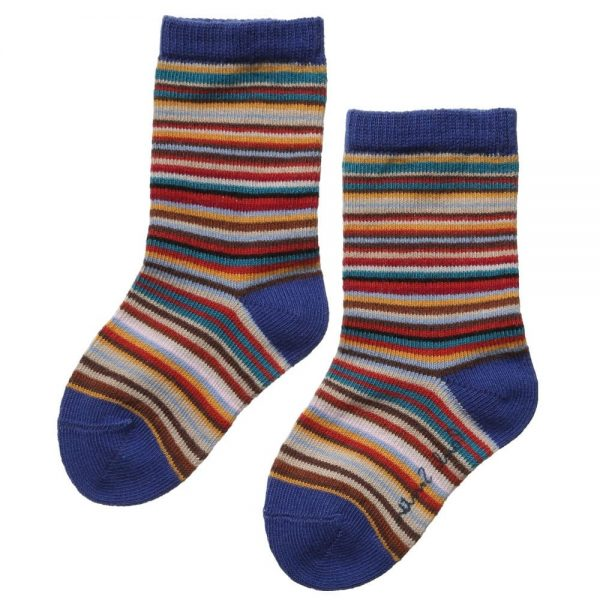 PAUL SMITH JUNIOR Cotton Signature Stripe Baby Socks