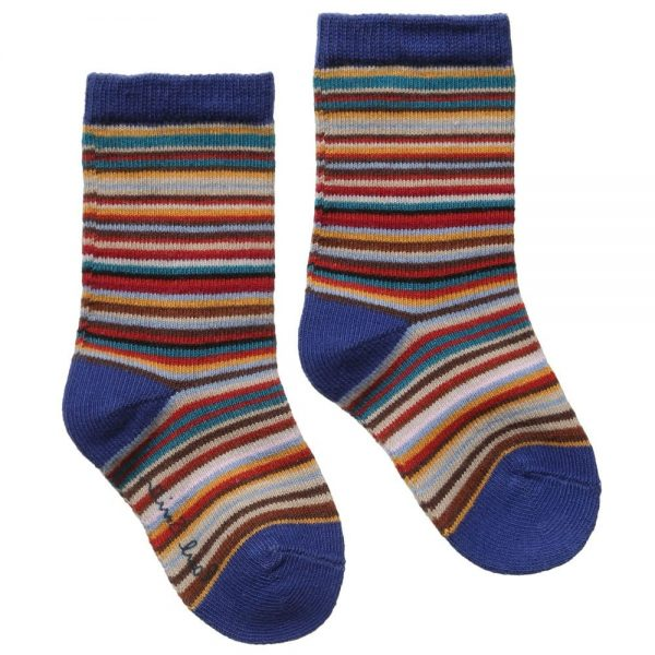 PAUL SMITH JUNIOR Cotton Signature Stripe Baby Socks2