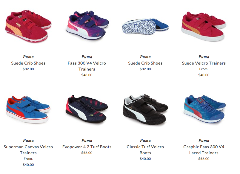 PUMA children shoes, sportwear & accessories