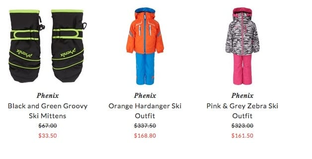 Phenix children skiwear