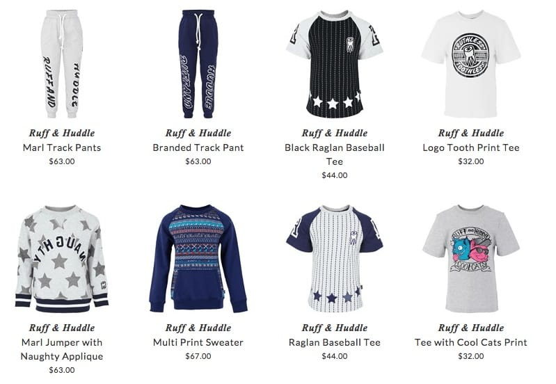RUFF & HUDDLE children casual clothing & accessories