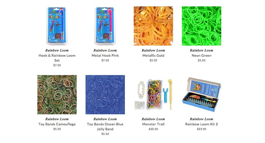 Rainbow Loom children accessories