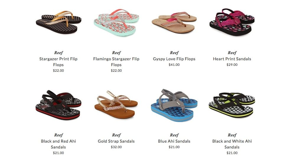 Reef beach footwear for kids