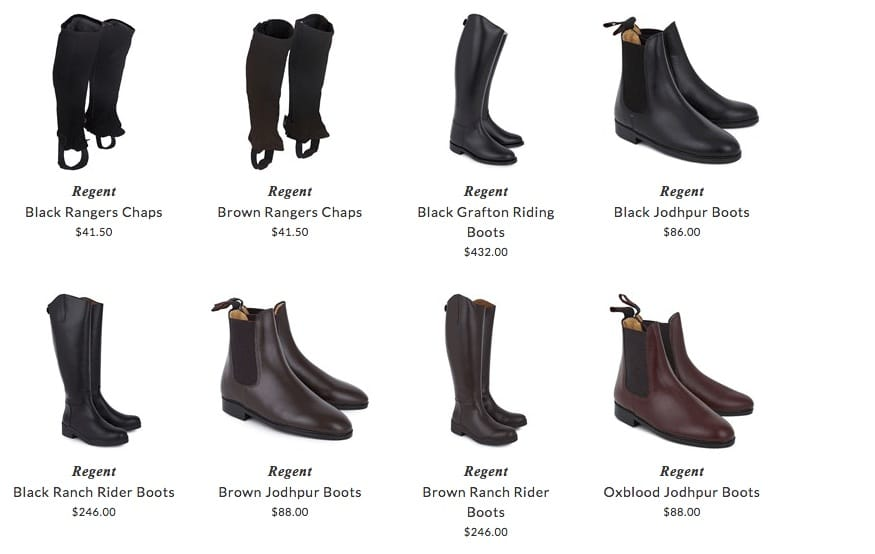 Regent kids shoes & accessories for horse riding