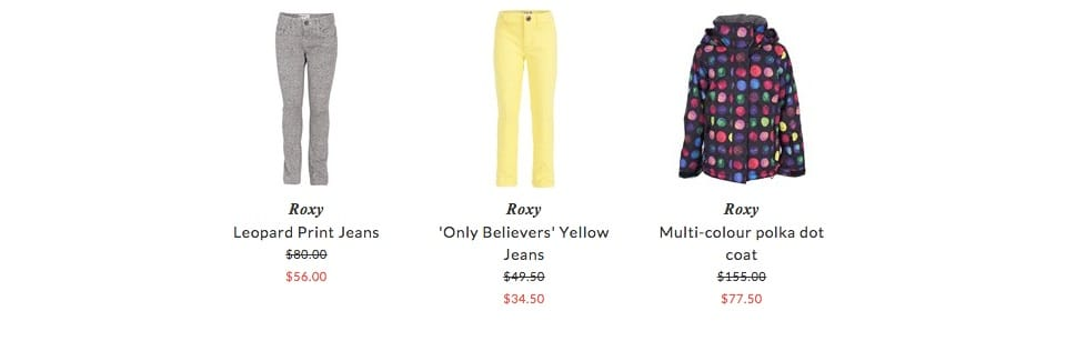 Roxy children clothing & accessories