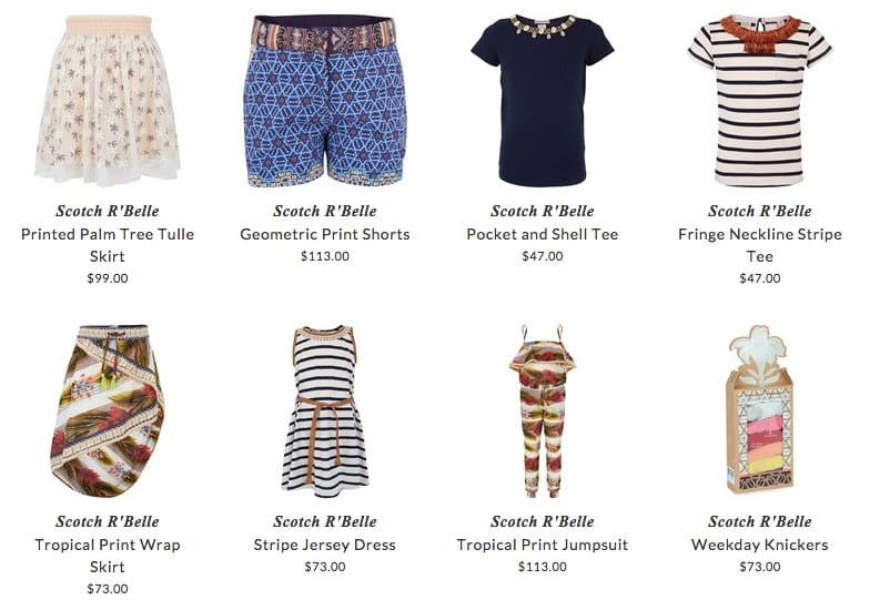 Scotch R'Belle girls clothes & accessories
