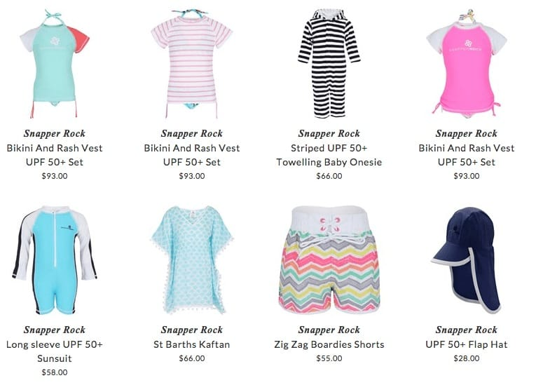 Snapper Rock children beach clothing