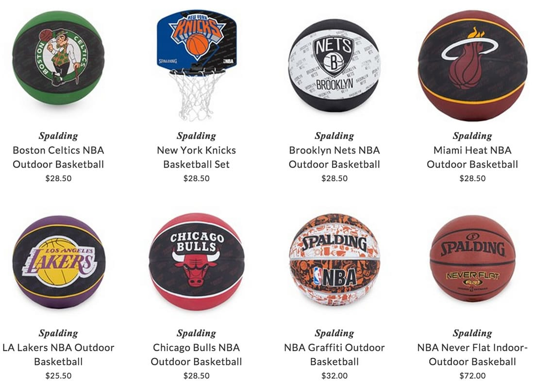 Spalding kids basketball accessories