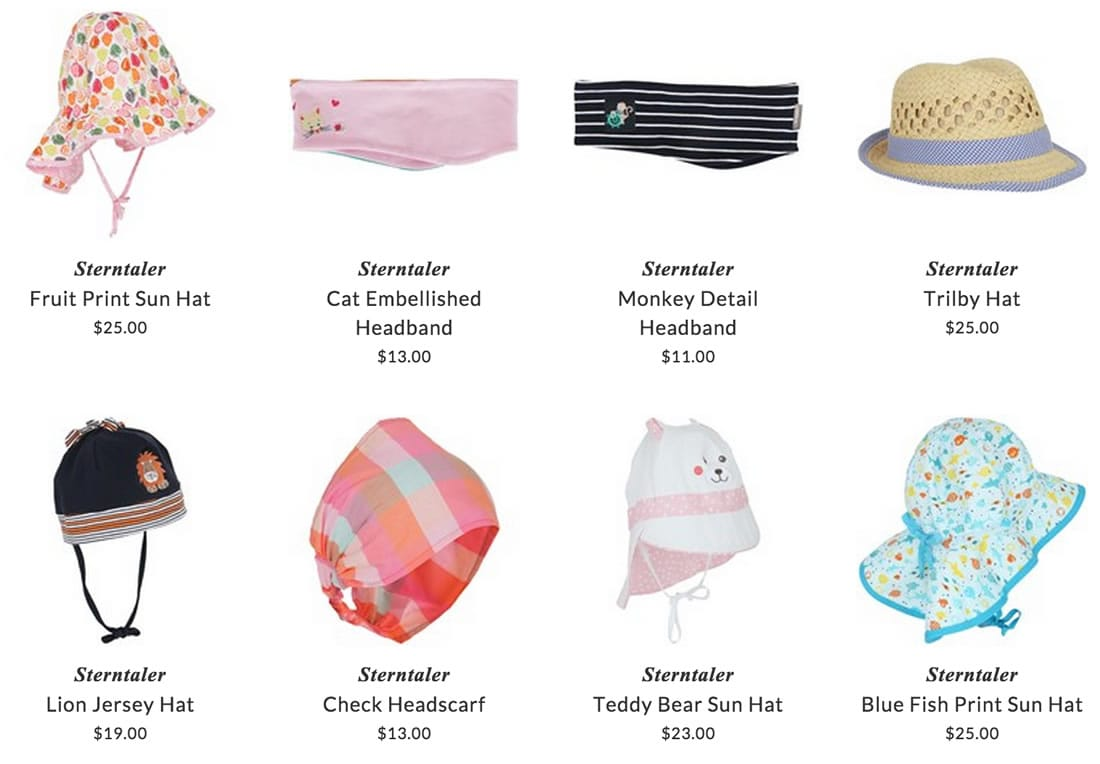 Sterntaler hats for kids