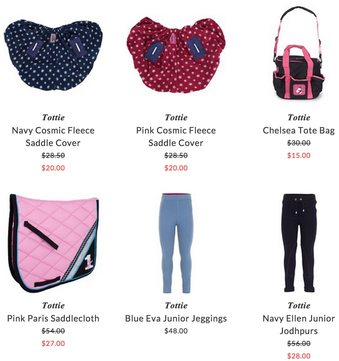 Tottie accessories & clothing for kids riders