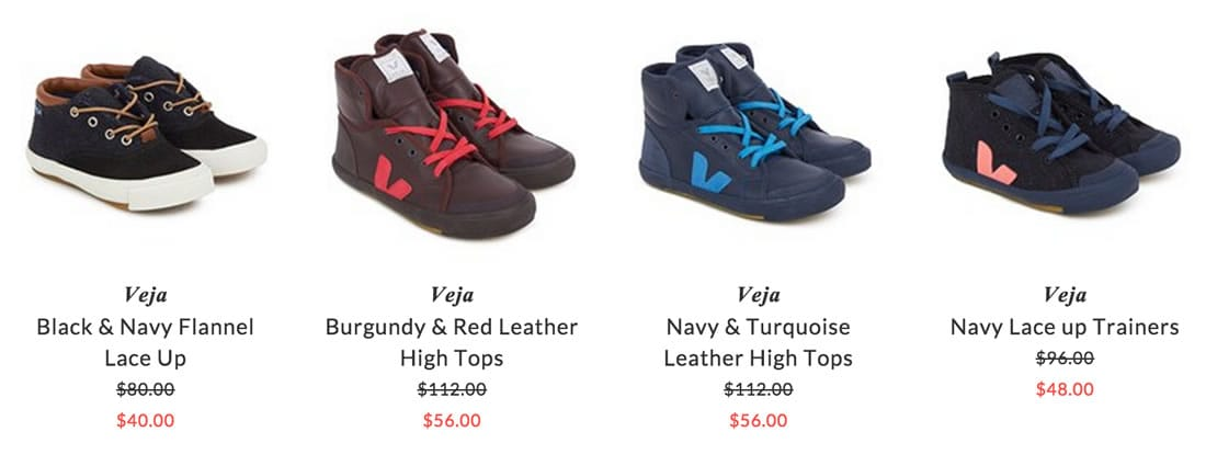 Veja children & baby shoes
