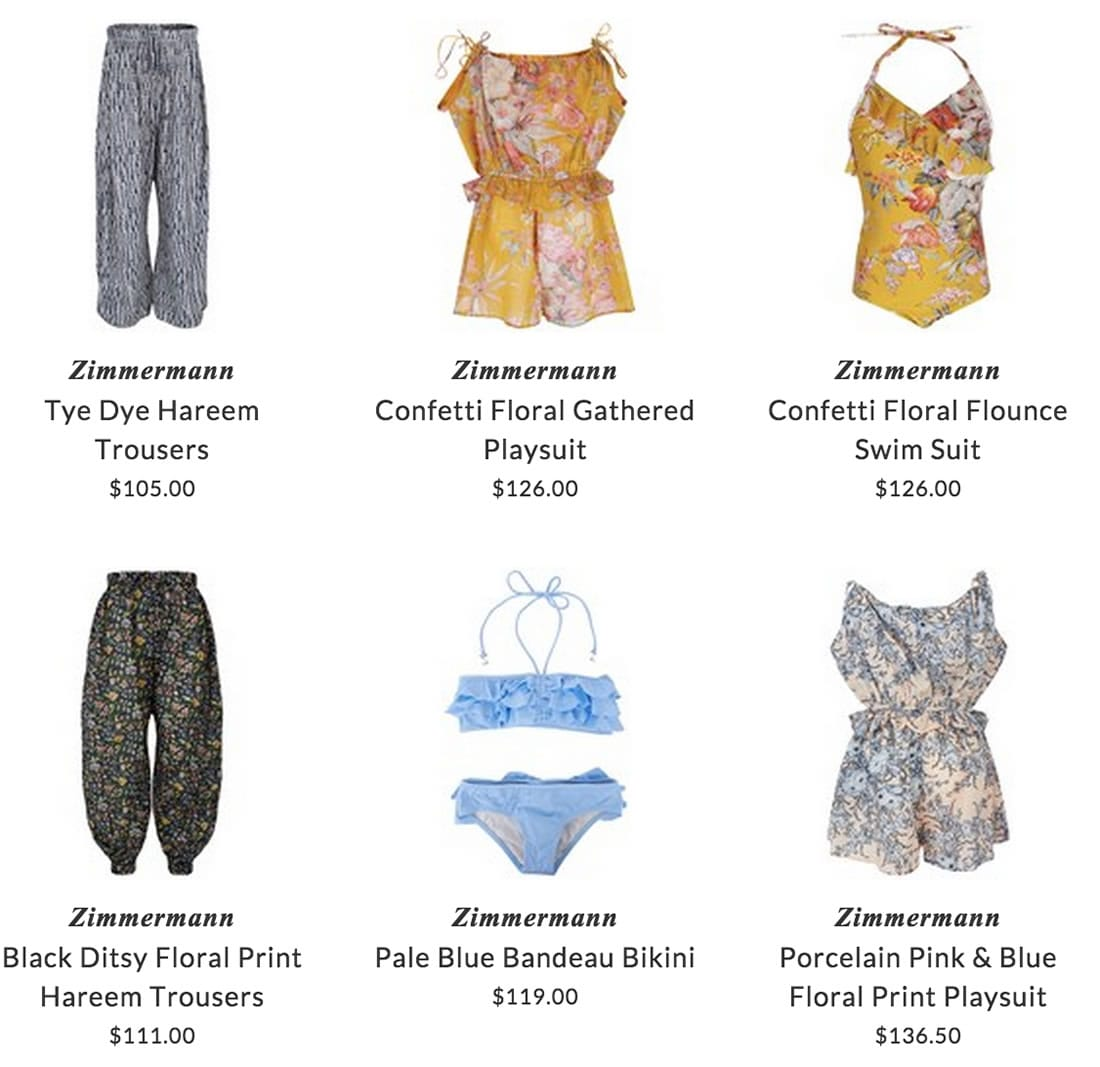 Zimmermann children beach clothing & swimwear