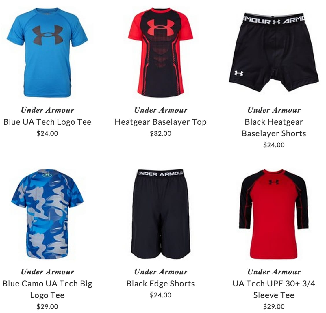 where to buy under armor clothing