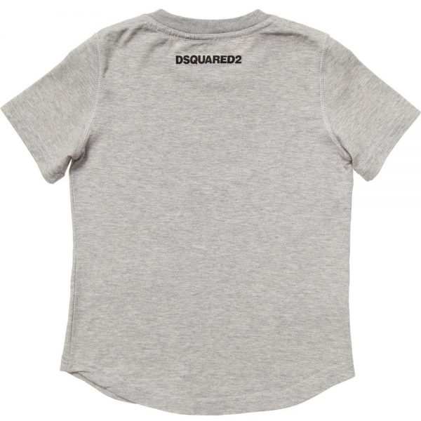 DSQUARED2 Boys Grey Dog Print T-Shirt 1