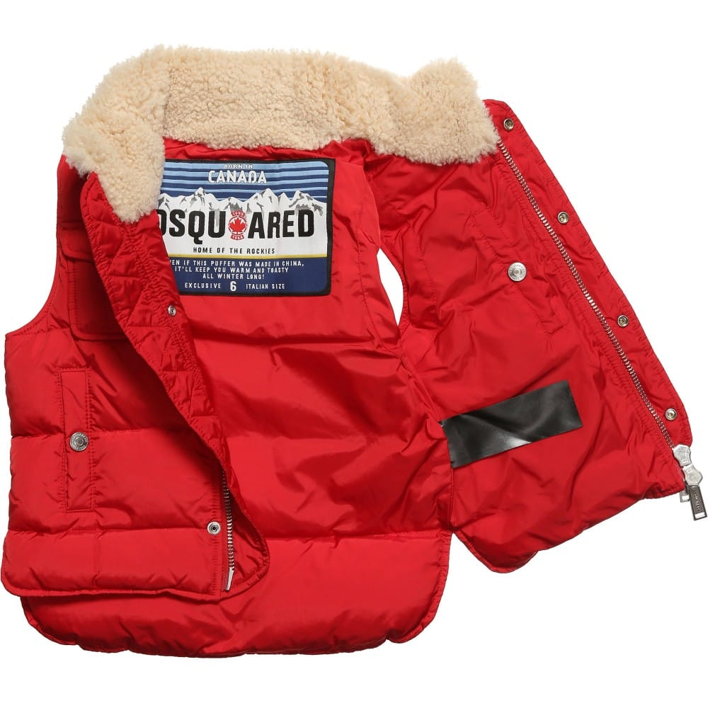 Dsquared2 Down Sleeveless Puffer Jacket Children Boutique