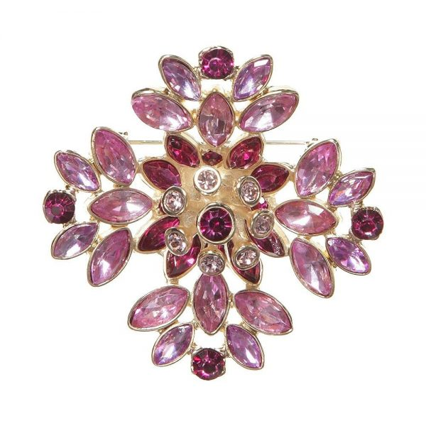 DSQUARED2 Girls Gold and Purple Jewelled Brooch