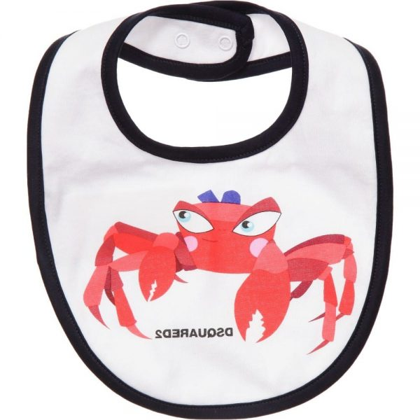 DSQUARED2 White Cotton Animal Bibs Gift Set (Pack of 3) 1
