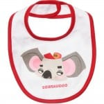 DSQUARED2 White Cotton Animal Bibs Gift Set (Pack of 3) 2