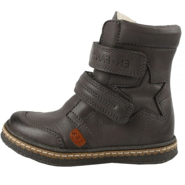 EN FANT Boys Grey Leather Ankle Boots 1