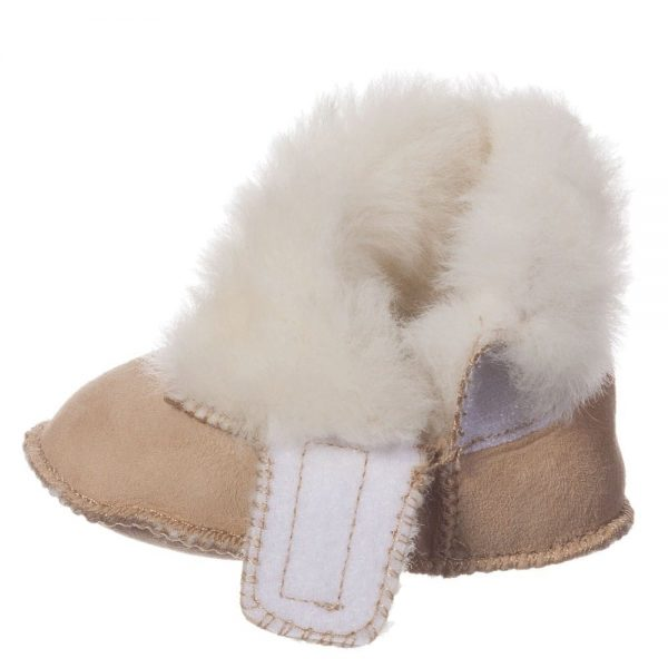 EN FANT Brown Pre-Walker Sheepskin Bootees 2