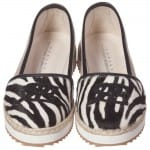 ERMANNO SCERVINO Girls Zebra Print Leather & Canvas Pumps 3
