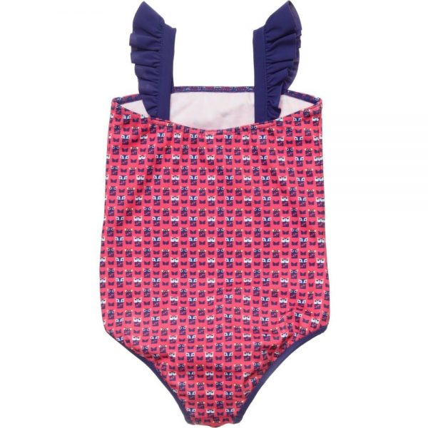 FENDI Girls Pink 'FF' Monster Swimsuit 1